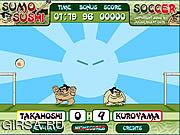 Флеш игра онлайн Сумо Футбол Суши