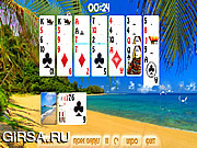 Флеш игра онлайн Солнечный берег - Пасьянс / Sunny Beach Solitaire
