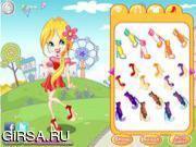Флеш игра онлайн Китайские наряды / Sunny Walk Around Dress Up