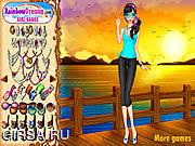 Флеш игра онлайн Sunset Chic Dressup