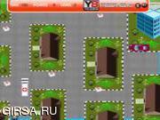 Флеш игра онлайн Супер парковка скорой помощи / Super Ambulance Parking