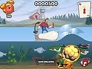 Флеш игра онлайн Super Dynamite Fishing