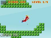 Флеш игра онлайн Летающий Супер Марио / Super Flying Mario