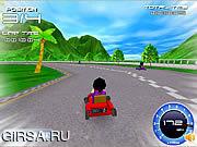 Флеш игра онлайн Супер картинг / Super Kart 3D
