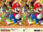Флеш игра онлайн Найди отличия - Марио / Super Mario - 5 Differences