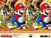 Игра Super Mario - Find the Differences