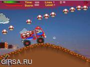 Флеш игра онлайн Super Mario Turbo Race