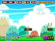 Флеш игра онлайн Супер герой персик / Super Peach Blast