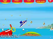Флеш игра онлайн Super Sonic Лыжный