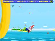 Флеш игра онлайн Super Sonic Ski 2