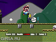 Флеш игра онлайн Super Mario Flash Halloween Version