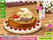 Флеш игра онлайн Фруктовый пирог / Sweet Chocolate Fruit Pie
