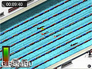 Флеш игра онлайн Гонки в бассейне