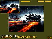 Флеш игра онлайн Tanks in Action Jigsaw