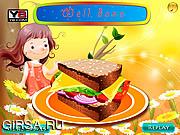 Флеш игра онлайн Декор. Вкусный бутерброд / Tasty Sandwich Deco