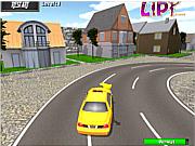 Флеш игра онлайн Парковка такси 3D