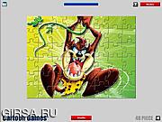 Флеш игра онлайн Таз. Мозайка / Taz Jigsaw