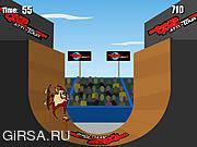 Флеш игра онлайн Экстремальный Скейтбординг / Extreme Taz Skateboard Halfpipe