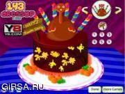 Флеш игра онлайн День Благодарения Торт / Thanksgiving  Cake