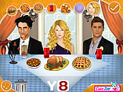 Флеш игра онлайн Thanksgiving Dinner With Justin And Selena