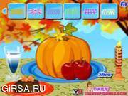 Флеш игра онлайн Тыква на День благодарения / Thanksgiving Pumpkin Decorating