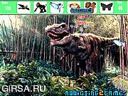 Флеш игра онлайн Найти предметы - лес динозавров