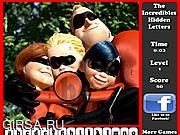 Флеш игра онлайн Изображение - скрытые буквы / The Incredibles Hidden Letters