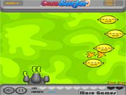 Флеш игра онлайн Вторжение фруктов-мутантов