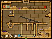 Флеш игра онлайн Малый-Огонек и Водная тёлочка 2 - в Храме Тьмы и Света