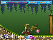 Флеш игра онлайн The Simpson Bike