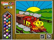Флеш игра онлайн Thomas the Tank Online Coloring