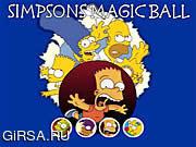 Флеш игра онлайн Simpsons Magic Ball