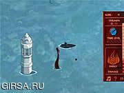Флеш игра онлайн Сельская война / Avatar Fire Nation Barge Barrage