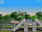 Флеш игра онлайн Мания 2 велосипеда / Bike Mania 2