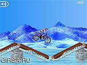 Флеш игра онлайн Bike Mania On Ice