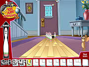 Флеш игра онлайн Боулинг с Томом и Джери / Tom and Jerry Bowling