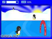 Флеш игра онлайн Пингвины на коньках