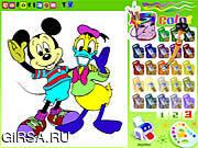Флеш игра онлайн Книга расцветки Дисней / Disney Coloring Book