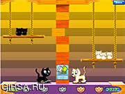 Флеш игра онлайн Качели Кошка