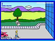 Флеш игра онлайн Homer's Beer Run