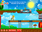 Флеш игра онлайн Tortoise Run After Mario