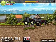 Флеш игра онлайн Tractor Farm Racing
