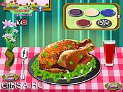 Флеш игра онлайн Turkey Dinner Decoration