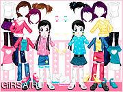 Флеш игра онлайн Маленький двухместный одеваются / Little Twin Dress up