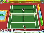 Флеш игра онлайн Веселый теннис