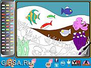 Флеш игра онлайн Undersea Life Online Coloring Page