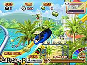 Флеш игра онлайн Гонки в Аквапарке 4
