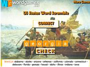 Флеш игра онлайн Орфографическое состязание в США / US States Word Scramble