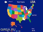 Флеш игра онлайн География США / USA Geography