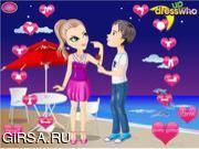 Флеш игра онлайн Влюбленные в день Святого Валентина / Valentine Kissing Couple